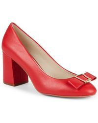 Cole Haan - Emory Bow Block Heel Court Shoes - Lyst