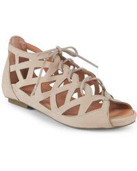 Gentle Souls - Brielle Lace-up Leather Sandals - Lyst