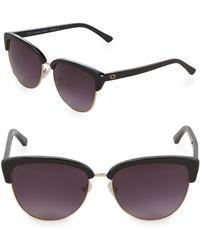 O By Oscar De La Renta - 57mm Clubmaster Sunglasses - Lyst