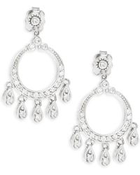 Effy - Diamond & 14k White Gold Drop Earrings - Lyst