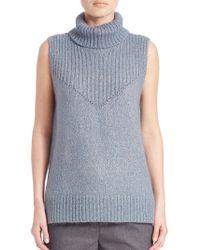 Peserico - Turtleneck Virgin Wool-blend Jumper - Lyst