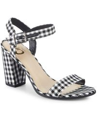 Circus by Sam Edelman - Esther Chequered Ankle-strap Sandals - Lyst