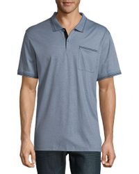 CALVIN KLEIN 205W39NYC - Solid Marled Polo Shirt - Lyst
