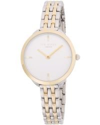 Ted Baker - Slim Stainless Steel Analog Bracelet Watch - Lyst