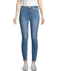 7 For All Mankind - Gwenvere High-rise Skinny Ankle Jeans - Lyst