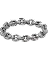 Bavna - Champagne Diamond & Sterling Silver Link Bracelet - Lyst