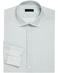 Saks Fifth Avenue - Circle & Pindot Print Dress Shirt - Lyst