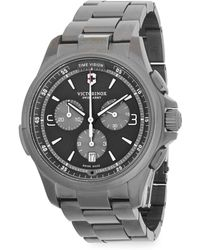 Victorinox - Stainless Steel Chronograph Watch - Lyst