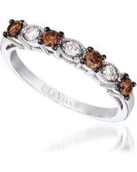 Le Vian - 14k Vanilla Gold Chocolate Diamonds & Vanilla Diamonds Ring - Lyst