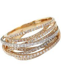 Effy - Diamond 14k White And Yellow Gold Ring, 0.67 Tcw - Lyst