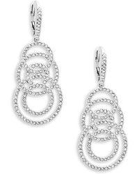 Adriana Orsini - Mday Pavé Crystal Drop Link Earrings - Lyst