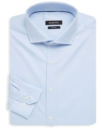 Bugatchi - Checkered Cotton Dress Shirt - Lyst