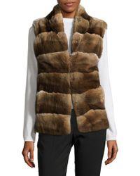 Adrienne Landau - Rex Rabbit Fur Vest - Lyst
