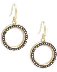Armenta - Old World White Diamond & 18k Goldplated Sterling Silver Drop Earrings - Lyst