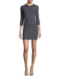 French Connection - Tim Bodycon Striped Dress - Lyst