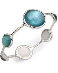 Ippolita - Mother-of-pearl, Clear Quartz & Sterling Silver Bracelet/denim - Lyst