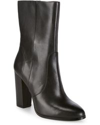 Saks Fifth Avenue - Harper Leather Booties - Lyst