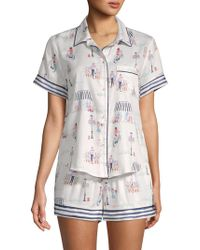 Jane And Bleecker - Two-piece Print Shorty Pajama Set - Lyst