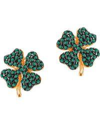 Gabi Rielle - Cubic Zirconia Clover Stud Earrings - Lyst