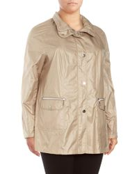 Basler - Hooded Raincoat - Lyst