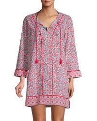 Marabelle - Shell-print Cover-up Dress - Lyst