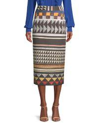 Stella McCartney - Printed Midi Skirt - Lyst