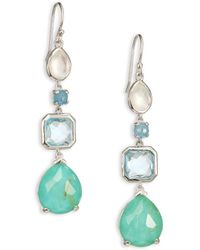 Ippolita - Rock Candy Rutilated Turquoise, Aquamarine, Blue Topaz, Clear Quartz & Sterling Silver Drop Earrings - Lyst