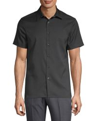 Perry Ellis - Point Collar Button-down Shirt - Lyst
