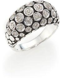 John Hardy - Dot Diamond & Sterling Silver Dome Ring - Lyst