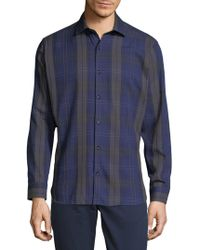 Jared Lang - Check Cotton Button-down Shirt - Lyst