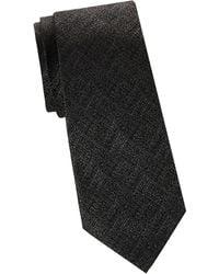 Armani - Grainy Print Tie - Lyst