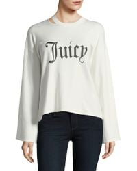 Juicy Couture - Gothic Print Long-sleeve Top - Lyst
