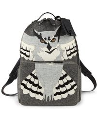 Valentino - Owl Print Backpack - Lyst