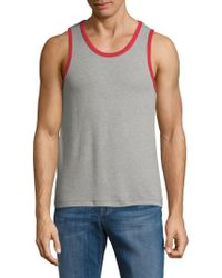 Alternative Apparel - Cotton-blend Heathered Tank Top - Lyst