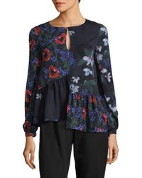 French Connection - Lisette Crepe Blouse - Lyst