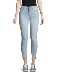 7 For All Mankind - Frayed Ankle Skinny Jeans - Lyst
