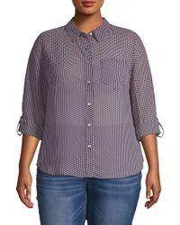 Nanette Nanette Lepore - Plus Printed Button-down Shirt - Lyst