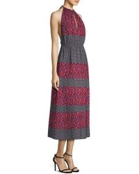 Robert Rodriguez - Printed Halter Midi Dress W/ Tags - Lyst