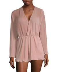 Haute Rogue - Pleated Wrap Romper - Lyst