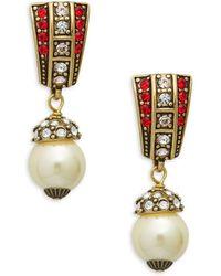 Heidi Daus - Faux Pearl Drop Earrings - Lyst