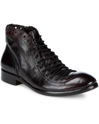 Jo Ghost Leather Combat Boots