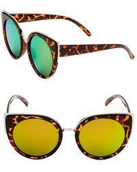 Fantaseyes - 55mm Cat Eye Sunglasses - Lyst