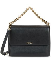 Furla Gaya Leather Crossbody Bag - Black