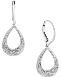 Effy - Pave Classica Diamond And 14k White Gold Earrings - Lyst