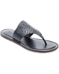 Bernardo - Monica Leather Thong Sandals - Lyst