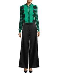 Diane von Furstenberg - Wide-leg Ribbon Trousers - Lyst