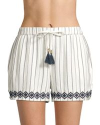 L*Space - Bonnie Embroidered Cover-up Shorts - Lyst