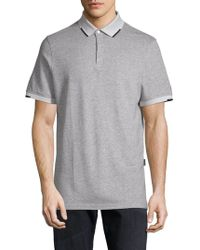 AG Green Label - Short-sleeve Heathered Polo - Lyst