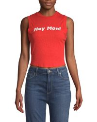 Wildfox - Keaton Cropped Tank Top - Lyst