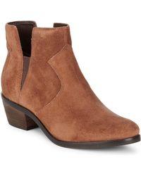 Cole Haan - Alayna Block Heel Leather Booties - Lyst